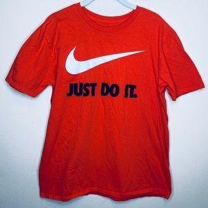 Nike Athletic Cut Orange T-Shirt Size Large